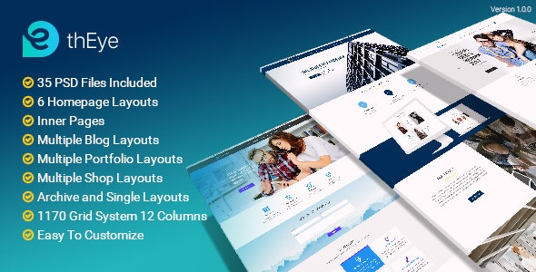 thEye | Multi-Purpose PSD Template - Photoshop UI Templates