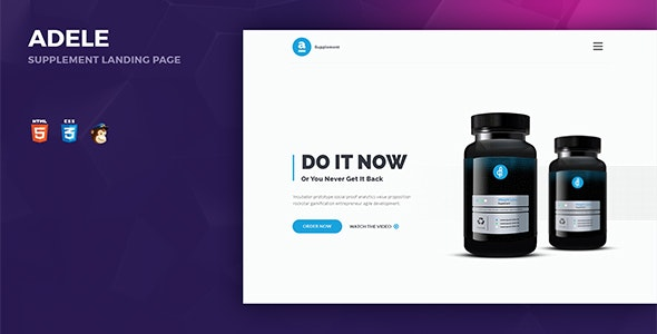 Adele Responsive Supplement HTML Landing Page - Landing Pages Marketing