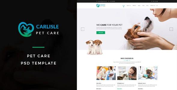Carlisle : Pet Care PSD Template