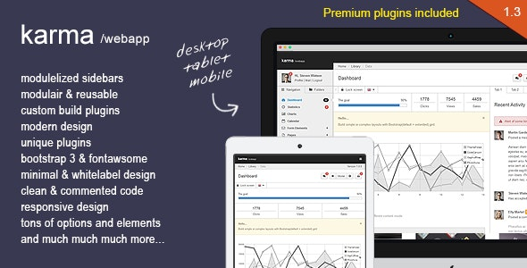 Karma - Responsive bootstrapped webapp - Admin Templates Site Templates