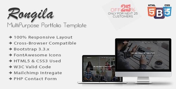 Rongila - MultiPurpose Onepage Portfolio Template - Portfolio Creative