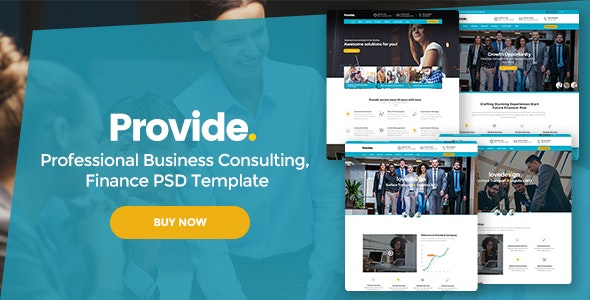 Provide - Professional Business Consulting,  Finance PSD Template - Corporate Photoshop