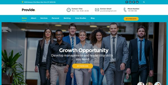 Provide - Professional Business Consulting,  Finance PSD Template