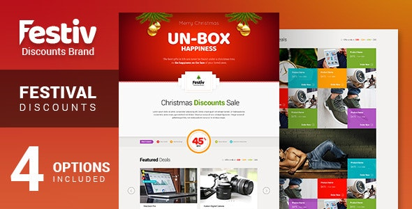 Festiv - Offer/Discount Landing Page - Marketing Corporate