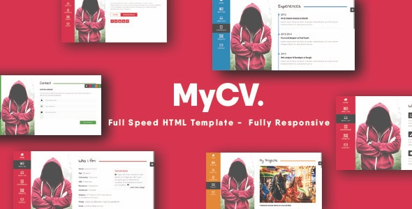 MyCV - Personal Business Card Template - Virtual Business Card Personal