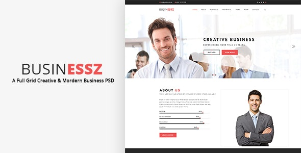 Businessz - Business PSD Template - Business Corporate
