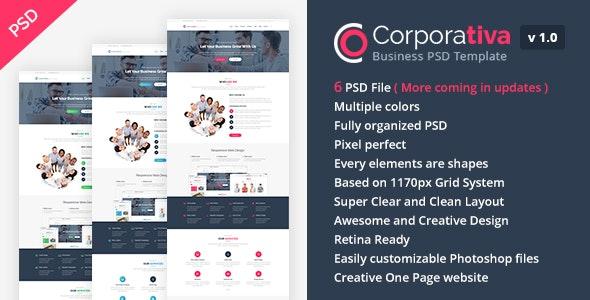 Corporativa - Onepage Corporate & Business PSD Template - Business Corporate