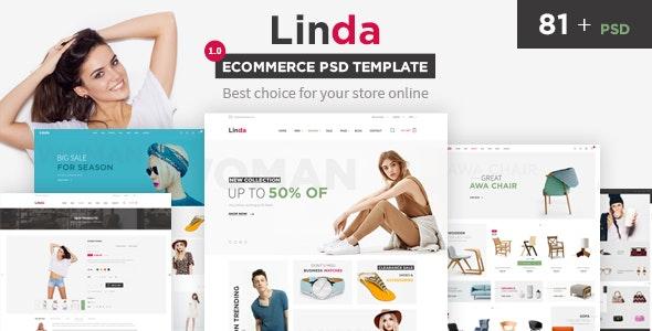 Linda - Mutilpurpose eCommerce PSD Template - Retail Photoshop