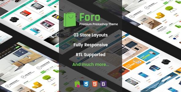 Foro - Multipurpose Responsive Prestashop Theme - Shopping PrestaShop