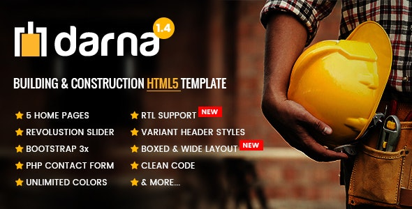Darna – Building & Construction HTML5 Template - Business Corporate