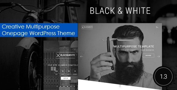 Black&White - Creative Multipurpose WordPress Theme - Creative WordPress