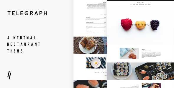 Telegraph - Restaurant WordPress Theme - Restaurants & Cafes Entertainment