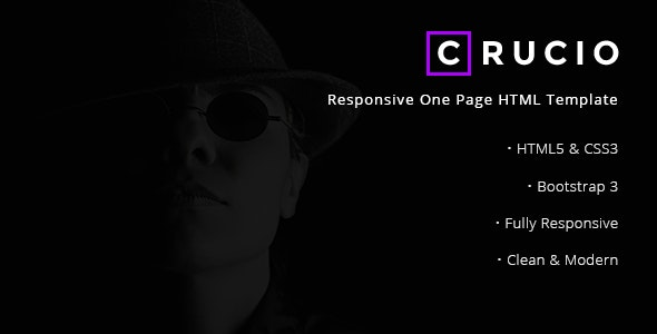 Crucio - Responsive One Page HTML Template - Creative Site Templates