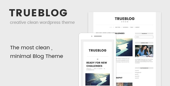 TrueBlog - Clean WordPress Theme - Personal Blog / Magazine