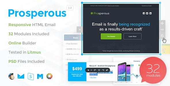 Prosperous - 10 StampReady Responsive Multipurpose Email Templates - Email Templates Marketing