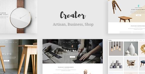 Creator - Theme for Handmade Artisans - Retail WordPress