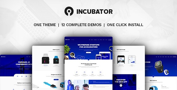 Incubator - WordPress Startup Business Theme by Key-Design | ThemeForest