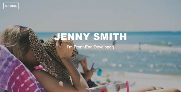 Cross -  Jenny Smith CV Portfolio - Resume / CV Specialty Pages