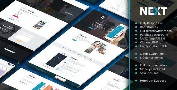 Next - App Landing Page