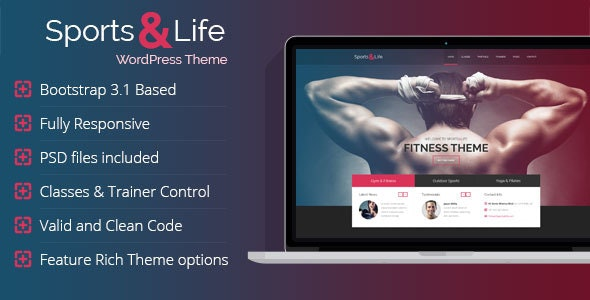 Sports & Life - Gym and Fitness WordPress Theme - Health & Beauty Retail