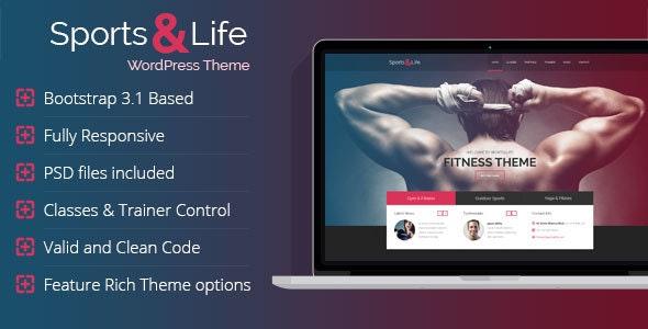 Sports & Life - Gym and Fitness WordPress Theme - Health & Beauty Retail