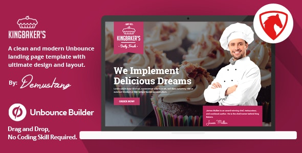King Baker's - Unbounce Landing Page Template - Unbounce Landing Pages Marketing