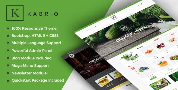 Kabrio - Food  Store Responsive OpenCart Theme - Shopping OpenCart