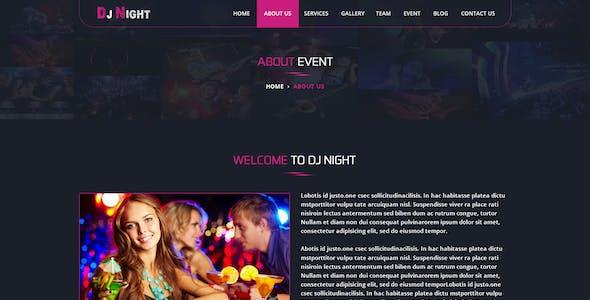 DJ Night - Event, DJ, Party, Music Club PSD Template