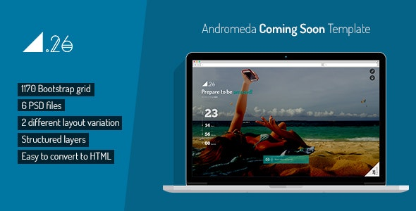 Andromeda Coming Soon PSD Template - Miscellaneous PSD Templates