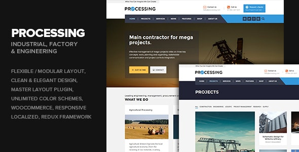Processing - Factory & Engineering WP theme - Business Corporate