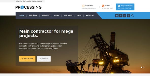 Processing - Factory & Engineering WP theme