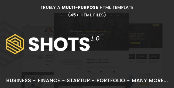 Shots - Responsive Multi-Purpose HTML5 Template - Corporate Site Templates