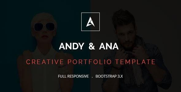 Andy & Ana Creative Portfolio Template - Portfolio Creative