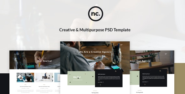 New Connection - Creative Multiconcept PSD Template - Creative PSD Templates