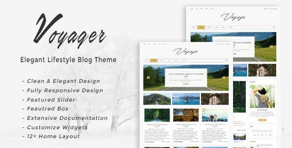 Voyager - Elegant Lifestyle Blog Theme - Blog / Magazine WordPress