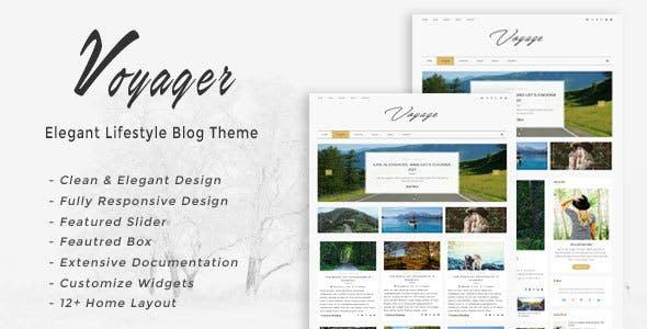Voyager - Elegant Lifestyle Blog Theme