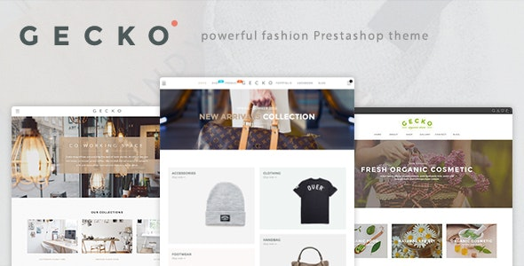 Gecko - Powerful Fashion, Organic Prestashop Theme - Fashion PrestaShop