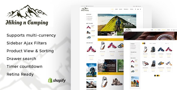 Hiking and Camping: An Outdoor Shopping Experience Shopify Theme - Shopify eCommerce