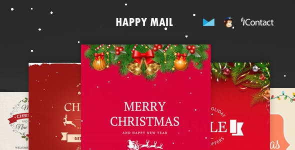 Happy Mail - Christmas Email Templates set + Online Access