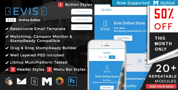 Evis - Responsive Email Set - Newsletters Email Templates