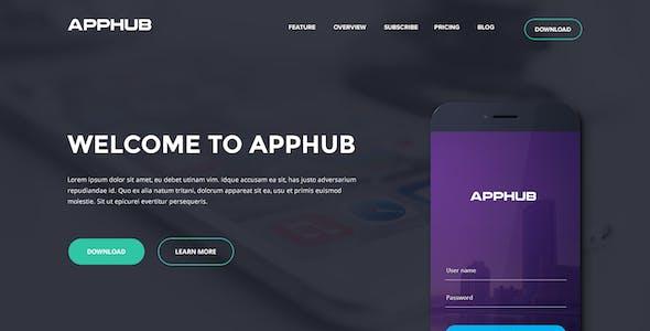 Apphub Landing Page Psd Template