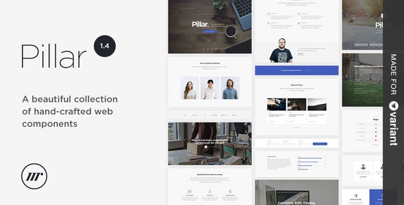 Pillar Multipurpose HTML + Variant Page Builder - Creative Site Templates