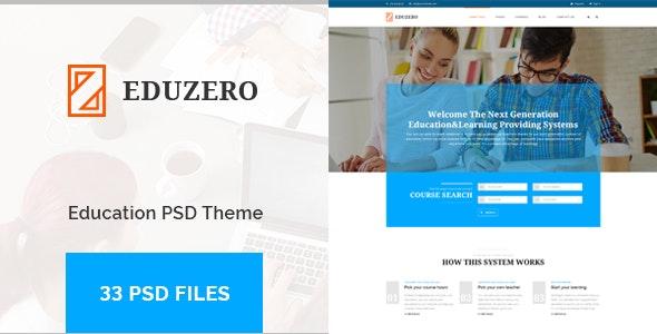 EDUZERO - Education PSD Template - Corporate PSD Templates