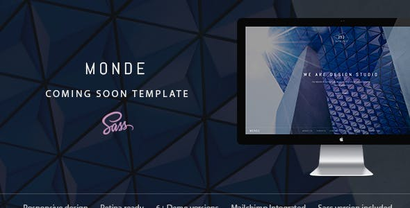 Monde — Creative Coming Soon & Maintenance Mode Template