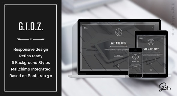 Gioz — Creative Coming Soon & Maintenance Mode Template - Specialty Pages Site Templates