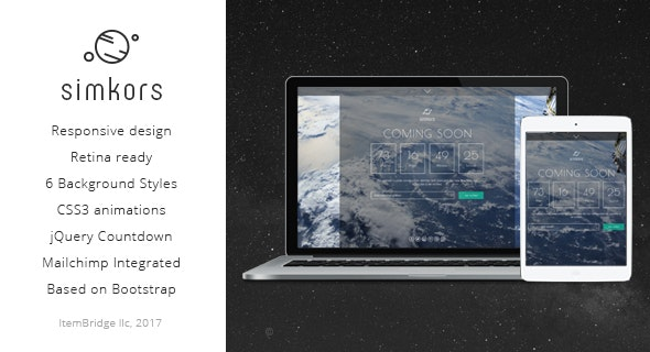 SimKors — Creative Coming Soon & Maintenance Mode Template - Specialty Pages Site Templates