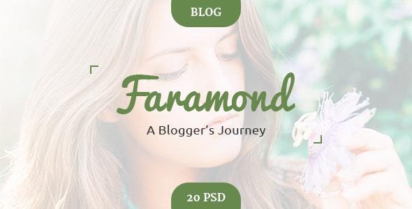 Faramond - Creative Blog Template - Creative Photoshop