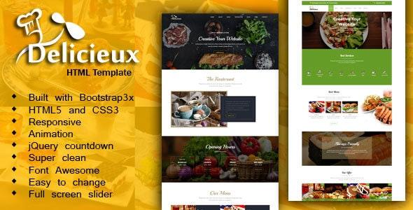 Mega Delicieux - Restaurant and Food HTML5 Template - Restaurants & Cafes Entertainment