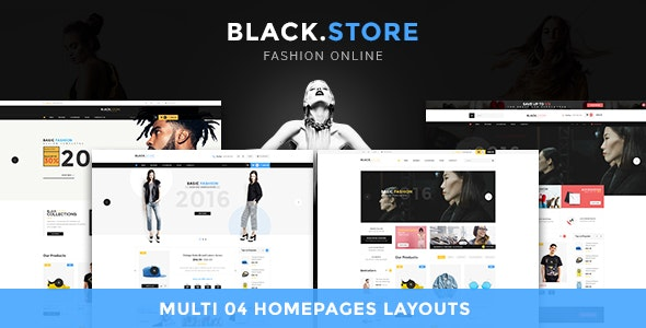Ves Blackstore Magento 2 Template With Pages Builder - Shopping Magento