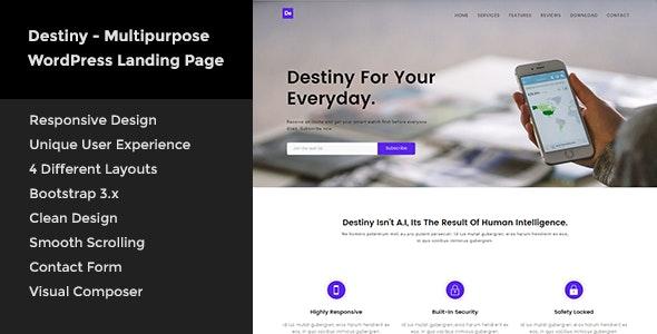 Destiny - Multipurpose WordPress Landing Page - Software Technology